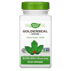 Гидрастис канадский, Goldenseal, Nature's Way, 400 мг, 180 вегетарианских капсул