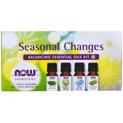Набор балансирующих эфирных масел бодрящие Now Foods (Seasonal Changes) 4 х 10 мл