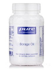 Масло огурца 1000 мг, Borage Oil, Pure Encapsulations, 60 капсул