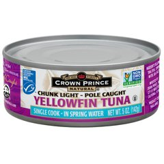 Yellowfin Tuna, Chunk Light, в родниковой воде, Crown Prince Natural, 5 унций (142 г)