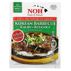 Корейское барбекю или смесь приправ, Korean Barbecue Kalbi or Bulgogi Seasoning Mix, NOH Foods of Hawaii, 42 г