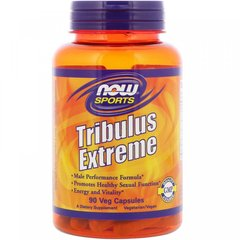 Трибулус Экстрим, Tribulus Extreme, Now Food, Sports, 90 капсул