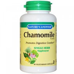 Ромашка, Chamomile, Nature's Answer, 650 мг, 90 капсул
