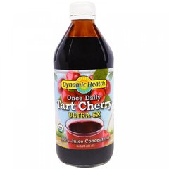 Один раз в день Tart Cherry, Ultra5X, 100% концентрат сока, Once Daily Tart Cherry, Ultra5X, 100% Juice Concentrate, Dynamic Health Laboratories, 473 мл