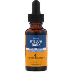 Кора ивы, экстракт, Willow Bark, Herb Pharm, 30 мл