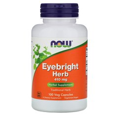 Очанка Now Foods (Eyebright Herb) 410 мг 100 капсул