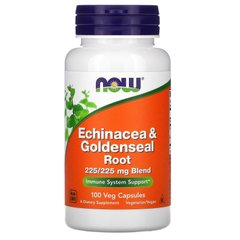 Эхинацея Now Foods (Echinacea Goldenseal) 225 мг 100 капсул