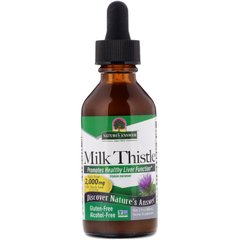 Расторопша без спирта Nature's Answer (Milk Thistle) 2000 мг 60 мл