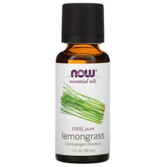 Масло лемограсса Now Foods (Essential Oils Lemongrass) 30 мл
