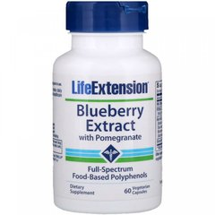 Экстракт голубики с гранатом, Blueberry with Pomegranate, Life Extension, 60 капсул