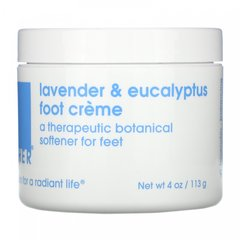 Крем для ног с лавандой и эвкалиптом, Lavender & Eucalyptus Foot Creme, Lather, 113 г
