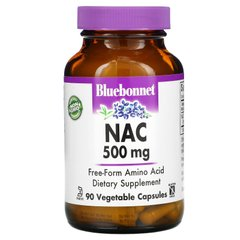NAC (N-ацетил-L-цистеин), Bluebonnet Nutrition, 500 мг, 90 растительных капсул