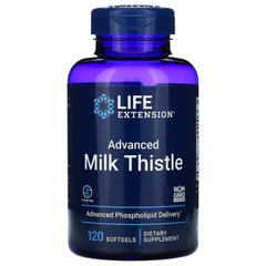 Европейский молочный чертополох, European Milk Thistle Advanced Phospholipid Delivery, Life Extension, 120 желатиновых капсул