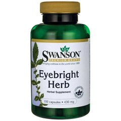 Херб очанки,Eyebright Herb, Swanson, 430 мг, 100 капсул
