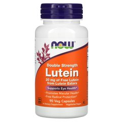 Лютеин двойная сила Now Foods (Lutein Double Strenght) 20 мг 90 капсул