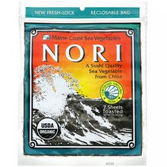 Нори, Nori, Maine Coast Sea Vegetables, 7 листов, 0,6 унции (17 г)