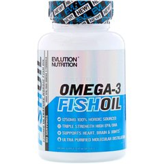 Рыбий жир EVLution Nutrition (Omega-3 Fish Oil) 1250 мг 60 капсул