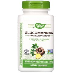 Глюкоманнан Nature's Way (Glucomannan Konjac) 1995 мг 180 капсул