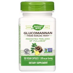 Глюкоманнан коньяковый корень Nature's Way (Glucomannan Konjac) 1995 мг 100 капсул