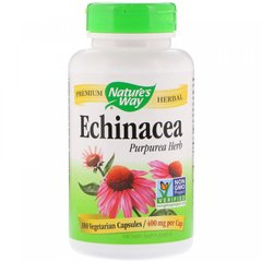 Эхинацея (Echinacea), Nature's Way, органик, 400 мг, 180 вегетарианских капсул