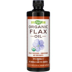 Льняное масло органик Nature's Way (Flax Oil) 710 мл