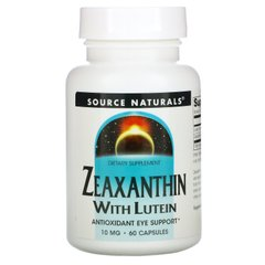 Зеаксантин с лютеином Source Naturals (Zeaxanthin with Lutein) 60 капсул