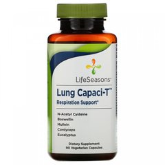 Поддержка дыхания, Lung Capaci-T, LifeSeasons, 90 вегетарианских капсул
