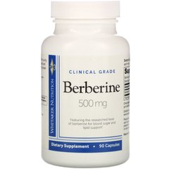 Берберин, Clinical Grade, Berberine, Dr. Whitaker, 500 мг, 90 капсул