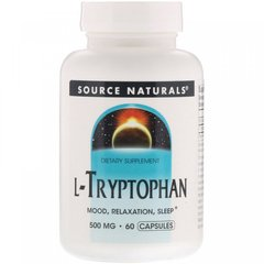 L-триптофан, Source Naturals, 500 мг, 60 капсул