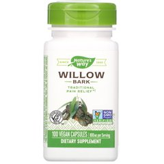 Белая ива Nature's Way (White Willow) 800 мг 100 капсул