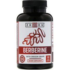 Берберин с магонией Zhou Nutrition (Berberine with Oregon Grape) 500 мг/25 мг 60 капсул