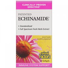 Эхинацея, Echinamide, Natural Factors, 60 капсул
