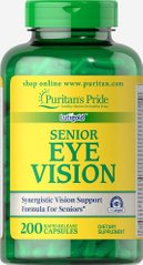 Старшее зрение, Senior Eye Vision, Puritan's Pride, 200 капсул