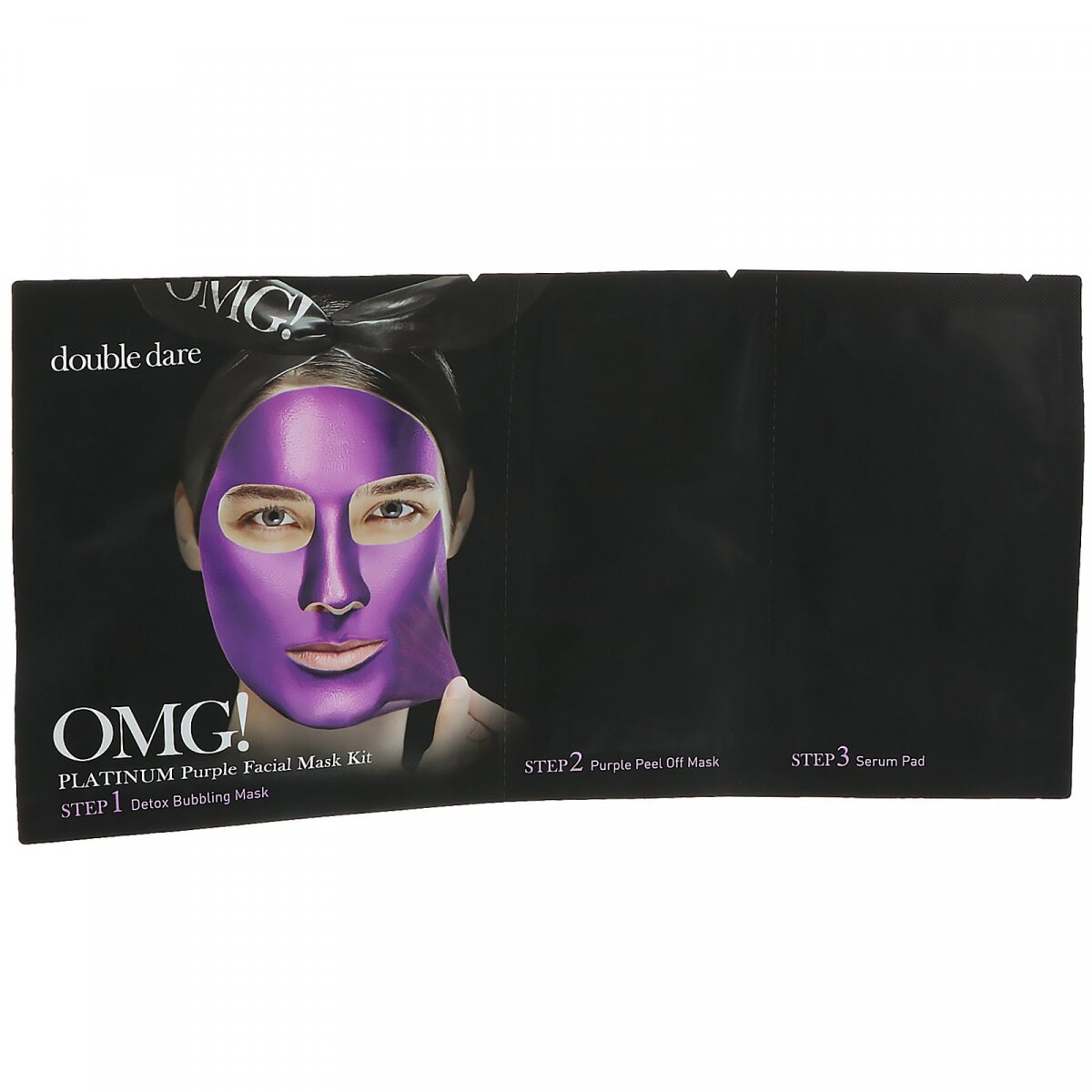 OMG !, Платиново-фиолетовая маска для лица, OMG!, Platinum Purple Facial Mask Kit, Double Dare, 1 набор
