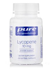 Ликопин 10 мг, Lycopene, Pure Encapsulations, 100 капсул Softgel