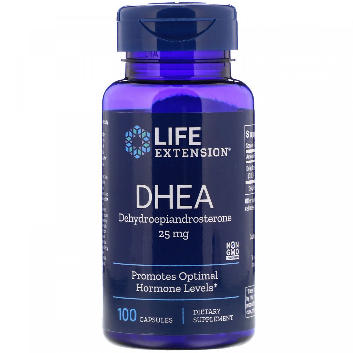 ДГЭА, DHEA, Life Extension, 25 мг, 100 капсул
