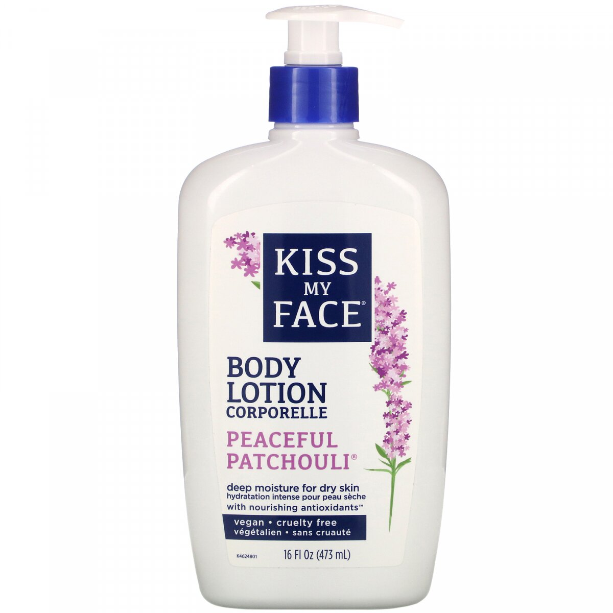Лосьон для тела Peaceful Patchouli, Peaceful Patchouli Body Lotion, Kiss My Face, 473 мл