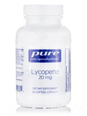 Ликопин 20 мг, Lycopene, Pure Encapsulations, 120 капсул Softgel