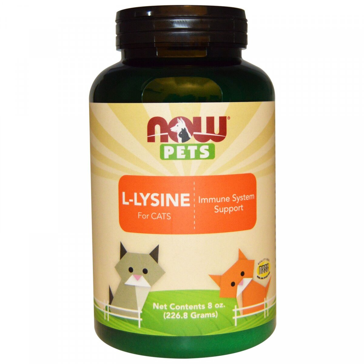 Лизин для кошек, L-Lysine, Now Foods, Now Pets, 226.8 г