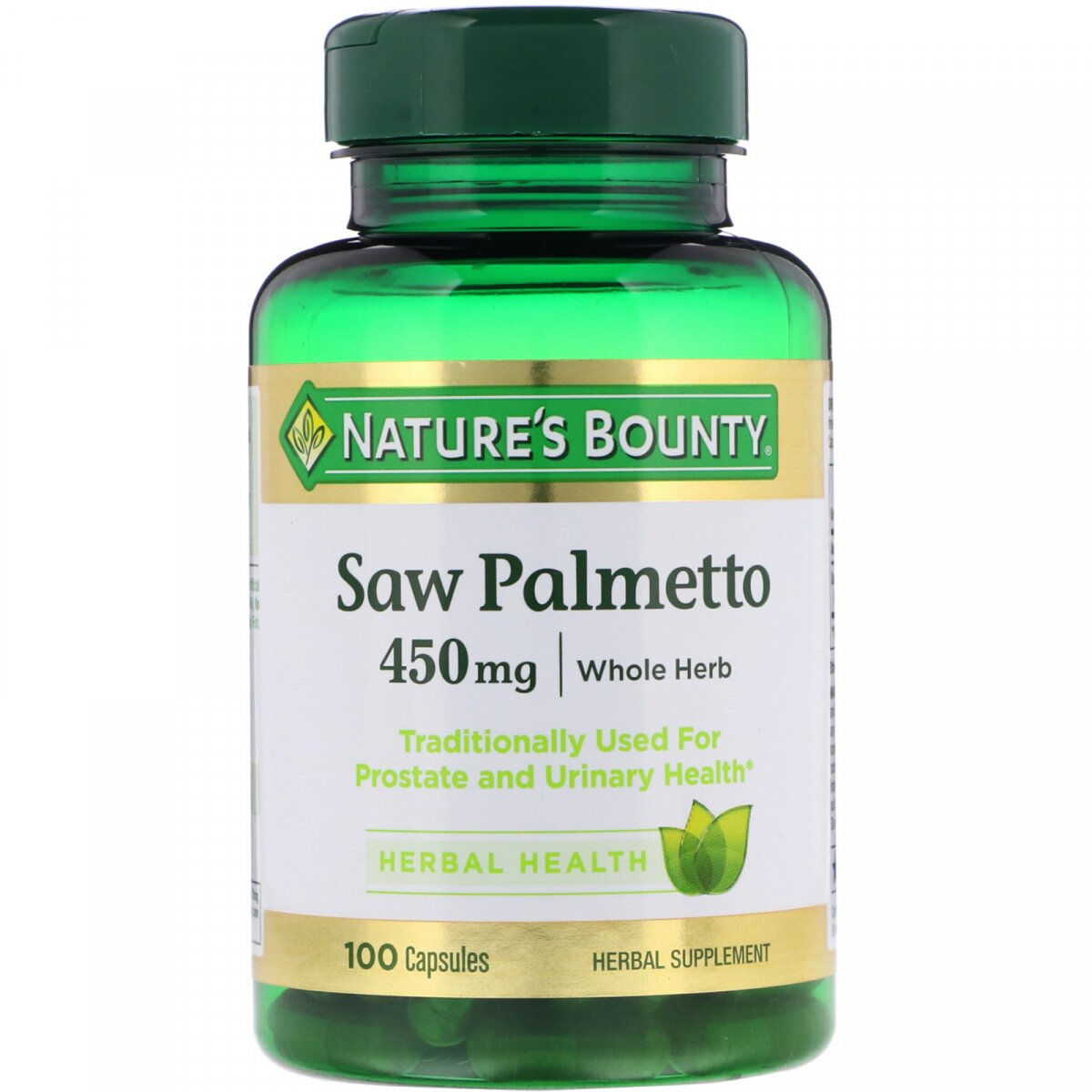 Со Пальметто, Saw Palmetto, Nature's Bounty, 450 мг, 100 капсул