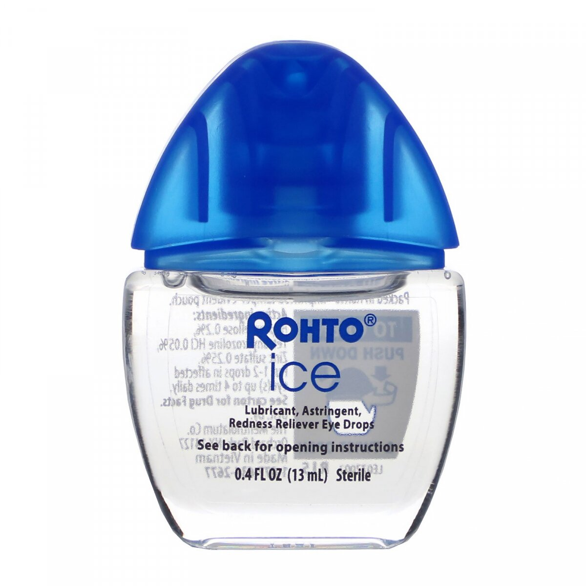 Охлаждающие глазные капли, лед, All-In-One, Cooling Eye Drops, Ice, All-In-One, Rohto, 0,4 жидкой унции (13 мл)