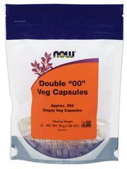 "Пустые Капсулы ""00"", Double ""00"" Vcaps, Now Foods, 250 капсул"