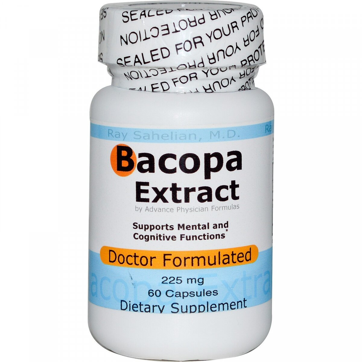 Bacopa (экстракт), Advance Physician Formulas, 225 мг, 60 капсул