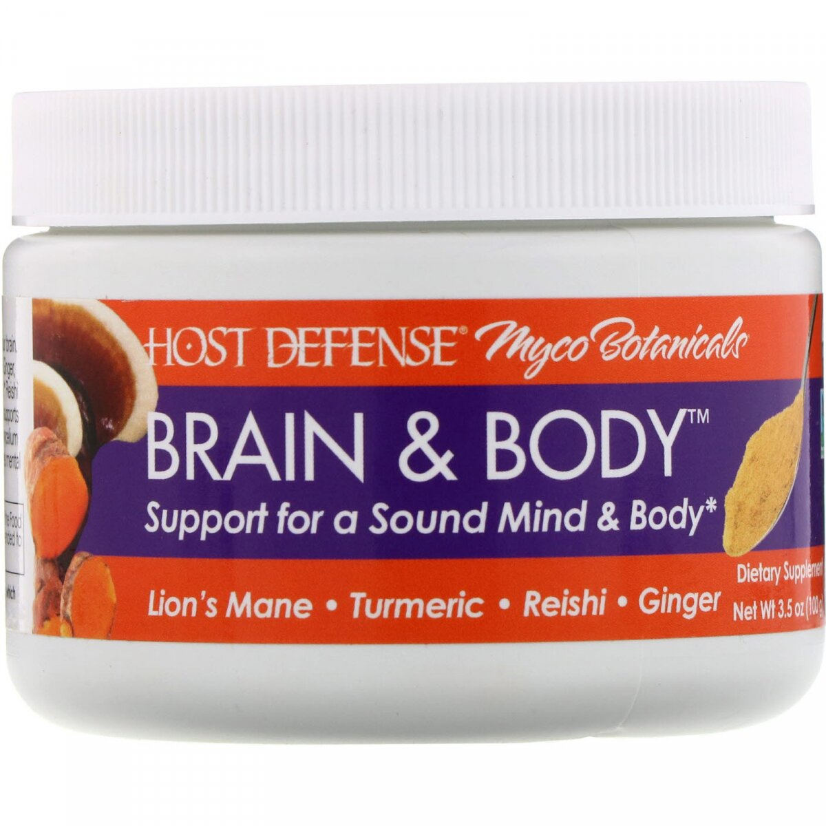 Мозг и тело, Myco Botanicals, Brain & Body, Fungi Perfecti, 100 г