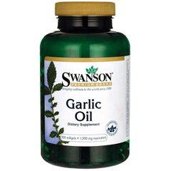 Чесночное Масло, Garlic Oil, Equivalent to 1, Swanson, Equivalent to 1.500 мг, 500 капсул