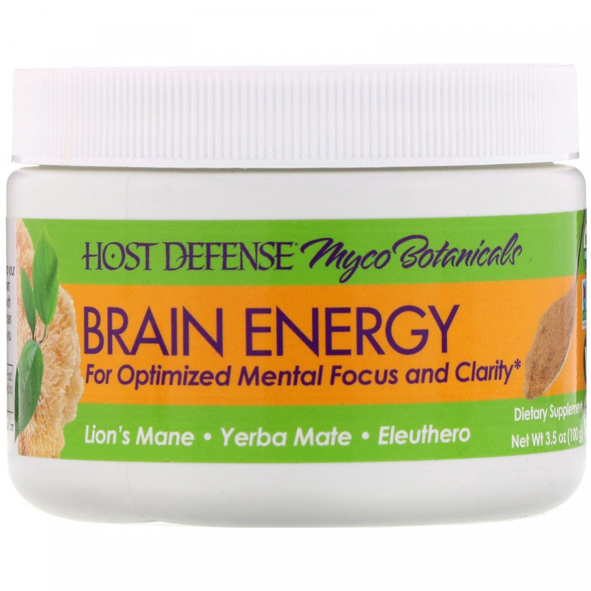 Энергия мозга, Myco Botanicals, Brain Energy, Fungi Perfecti, 100 г