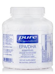 EPA/DHA Основные, EPA/DHA Essential, Pure Encapsulations, 180 Капсул