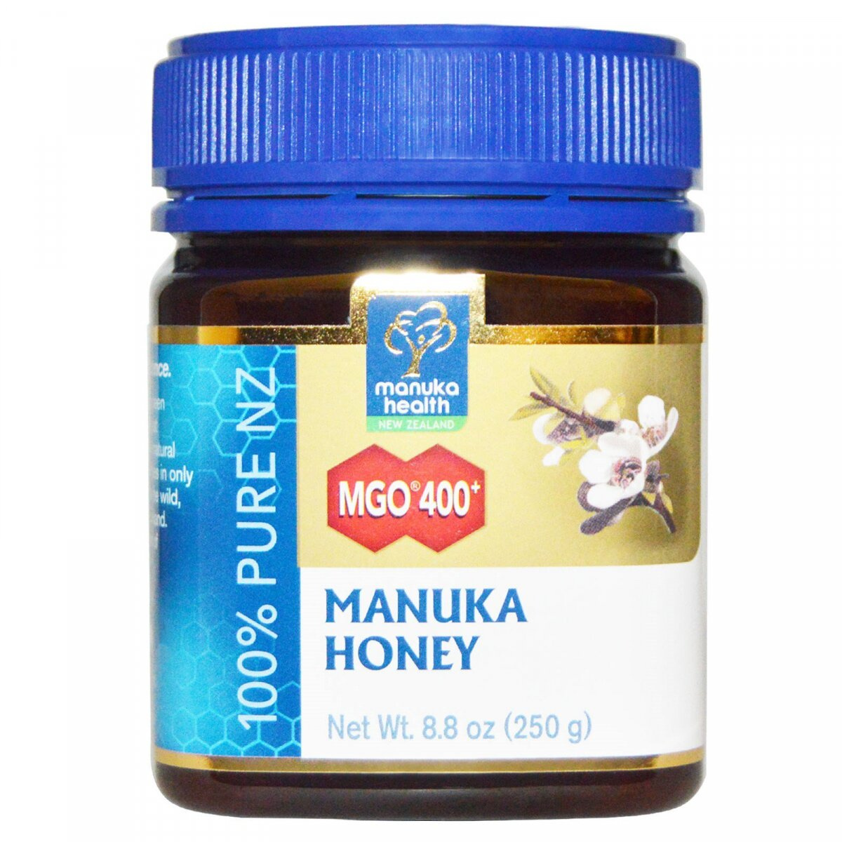 Манука мед, Manuka Honey, Manuka Health, MGO 400+, (250 г)