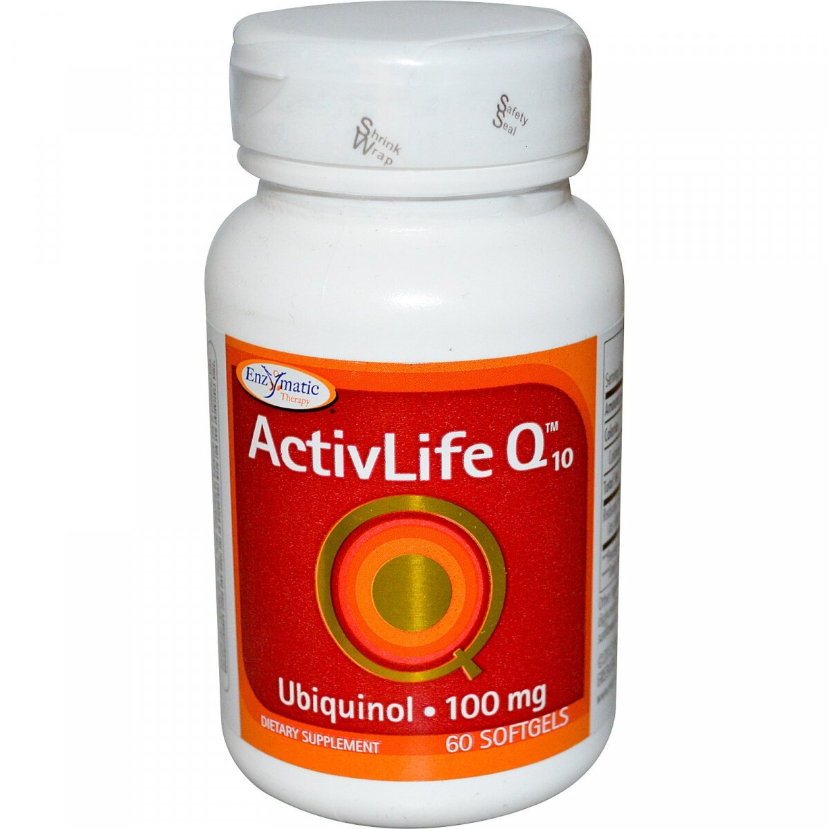 Убихинол, ActivLife Q10, Enzymatic Therapy (Nature's Way), 100 мг, 60 гелевых капсул