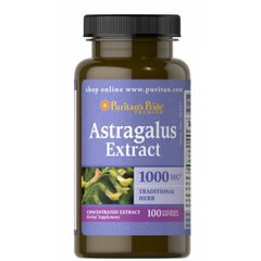 Экстракт астрагала, Astragalus Extract, Puritan's Pride, 1000 мг, 100 капсул